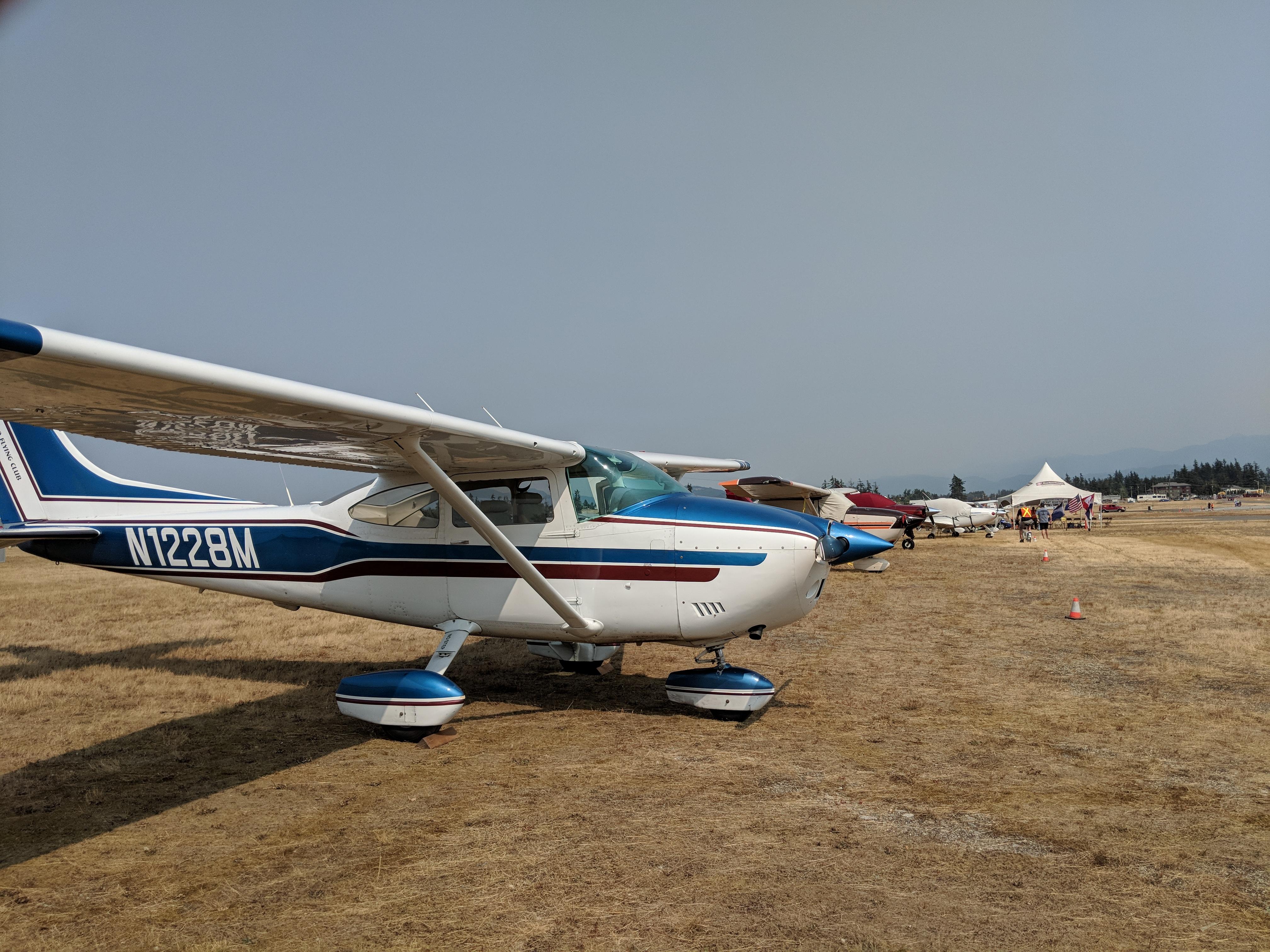 The Club's Cessna 182, N1228M at CYXX.